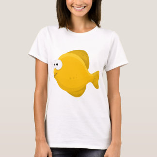 Yellow Fish Cartoon T-Shirt