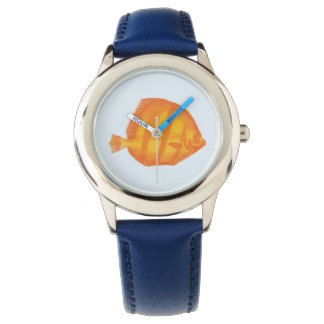 Yellow fish:: Children clock Watch