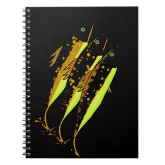 Yellow fish note books