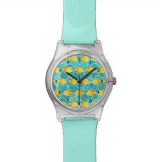 Yellow fish pattern watch