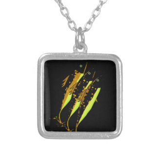 Yellow fish silver plated necklace