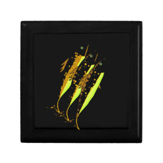 Yellow fish trinket boxes