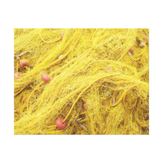 Yellow Fishing Nets (Greece) Gallery Wrapped Canvas