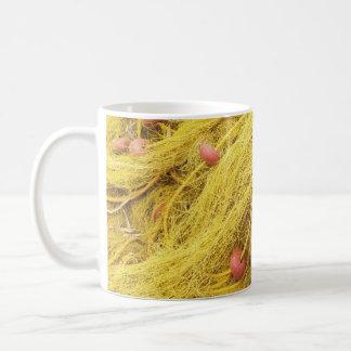 Yellow Fishing Nets (Greece) Basic White Mug