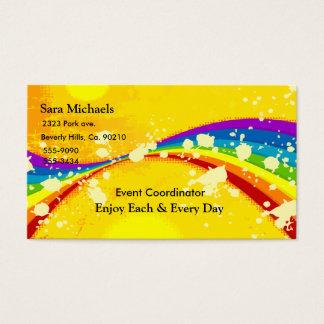 Yellow Flashy Rainbow Set Business Card