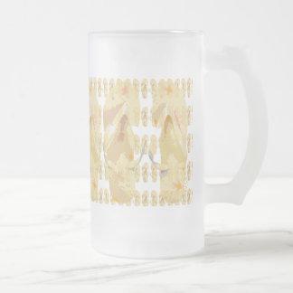 Yellow Flip Flops Abstact Frosted Glass Mug
