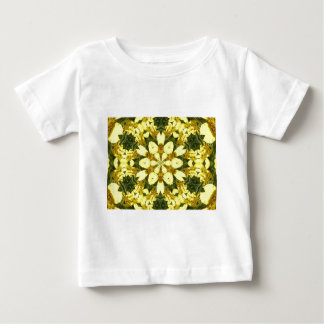 yellow floral abstract design daisies baby T-Shirt