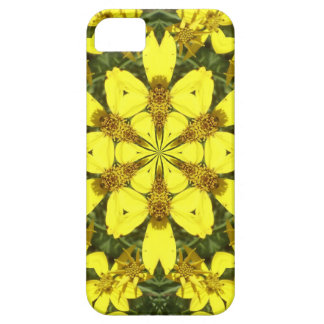 yellow floral abstract design daisies iPhone 5 covers