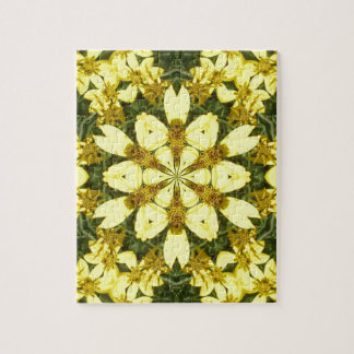 yellow floral abstract design daisies jigsaw puzzle