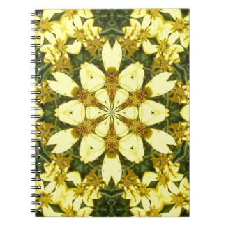 yellow floral abstract design daisies notebooks
