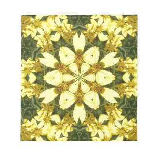 yellow floral abstract design daisies notepads