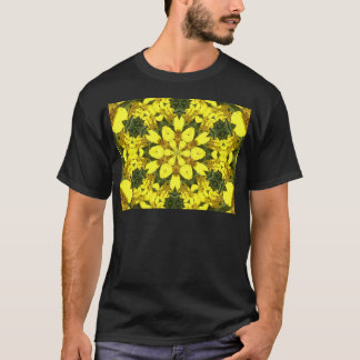 yellow floral abstract design daisies T-Shirt