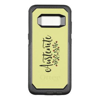 Yellow Floral Austenite OtterBox Commuter Samsung Galaxy S8 Case