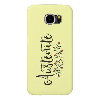 Yellow Floral Austenite Samsung Galaxy S6 Cases