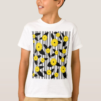 Yellow floral design T-Shirt