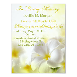 Yellow Floral | Funeral | Memorial Service Card