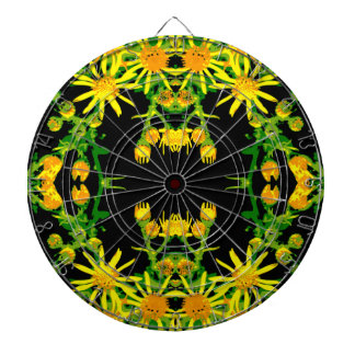 Yellow Floral Graphic Dart Boards