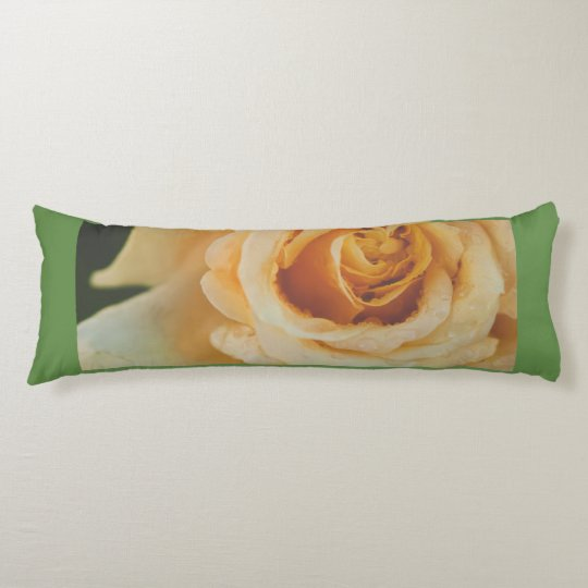 Yellow floral heart body pillow