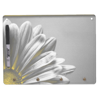 Yellow Floral Highlights Dry Erase Board