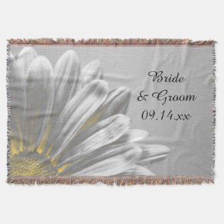 Yellow Floral Highlights Wedding Throw