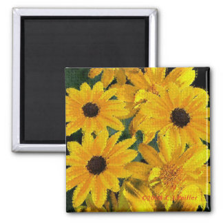 'Yellow Floral' Magnet