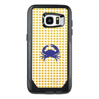 Yellow-Floral-Mod-Blue-Crab-APPLE-SAMSUNG OtterBox Samsung Galaxy S7 Edge Case