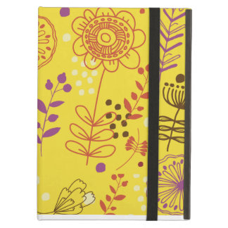 Yellow Floral Powis iCase iPad Case with Kickstand