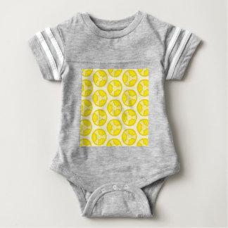 Yellow floral spheres baby bodysuit