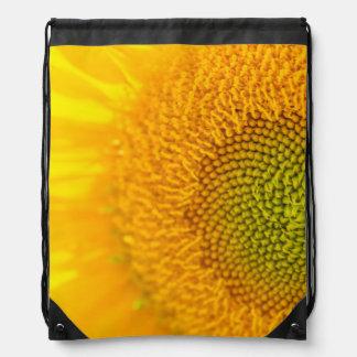 Yellow Floral Sunflower Drawstring Bag