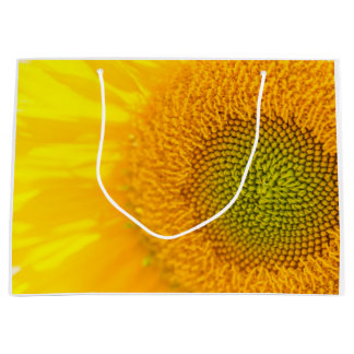 Yellow Floral Sunflower Large Gift Bag