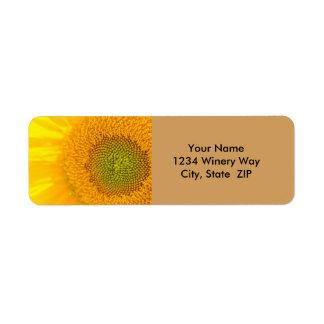 Yellow Floral Sunflower Return Address Label