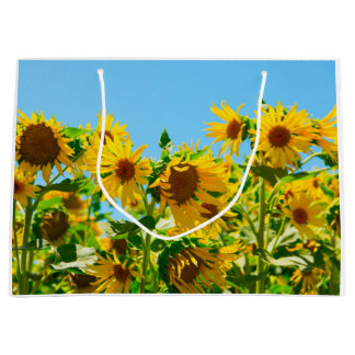 Yellow Floral Sunflowers Large Gift Bag