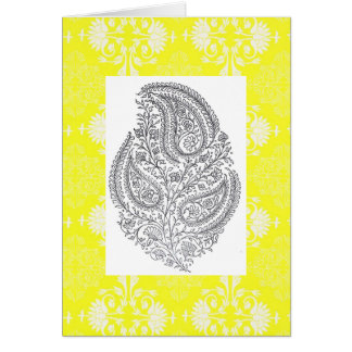 YELLOW FLORAL SWAY PATTERN CARD