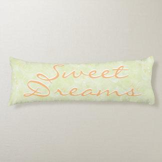 Yellow Floral Sweet Dreams Zzzzzz Body Pillow