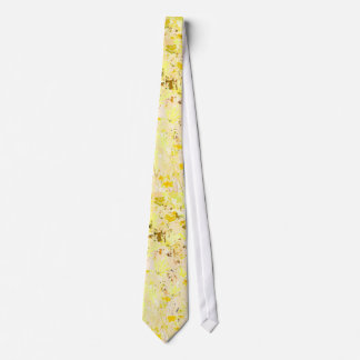 Yellow Floral Wildflowers Art Tie