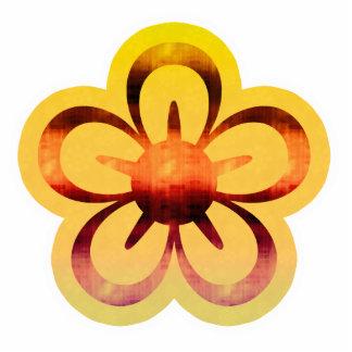 Yellow Florescence Pin Photo Sculpture Button