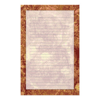 Yellow flower against leaf camouflage pattern customized stationery
