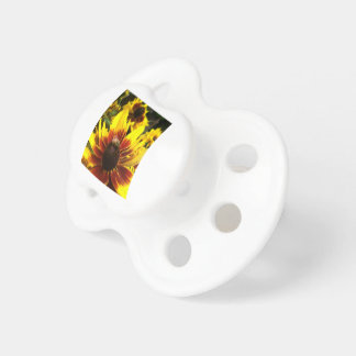 Yellow flower and bee pacifier