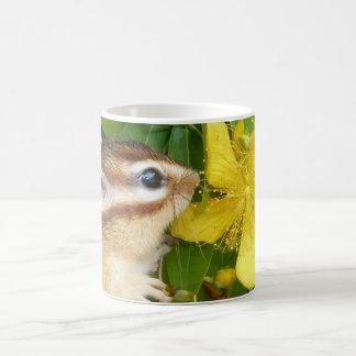 Yellow flower and Chipmunk (4) Coffee Mug
