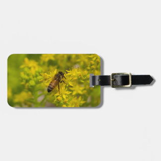 Yellow Flower and Honey Bee Maleny 2016 Luggage Tag