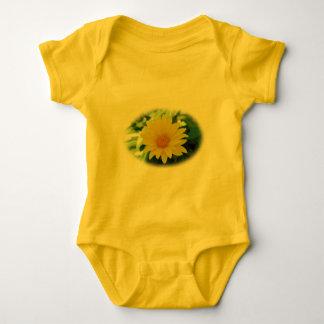 Yellow Flower Baby Jersey Bodysuit