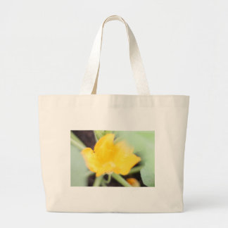 Yellow Flower Bloom Large Tote Bag