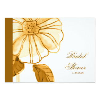 Yellow Flower Bridal Shower Invitations