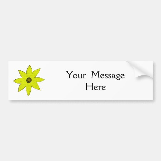 Yellow Flower Bumper Sticker