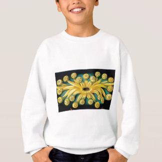 yellow flower burst art sweatshirt