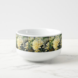 Yellow Flower Clusters Soup Bowl