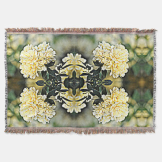 Yellow Flower Clusters Throw Blanket