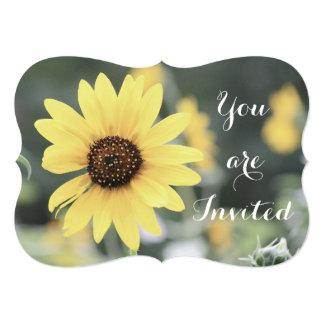 Yellow Flower Customized Invitation