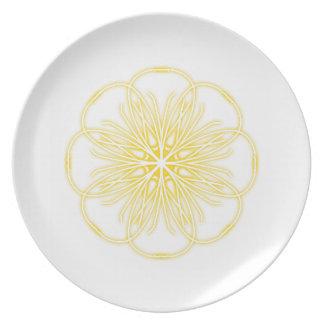 Yellow Flower Dinnerware Plate