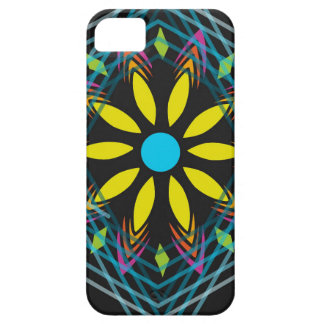 Yellow flower faded blue diamonds iPhone 5 cases